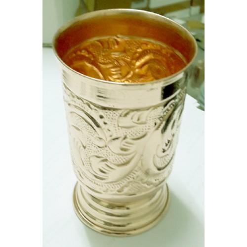 Designer Copper Glass Tumbler Cup, Drink...