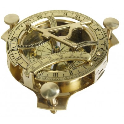 """4"""" Sundial Compass - Solid Brass Compass"""