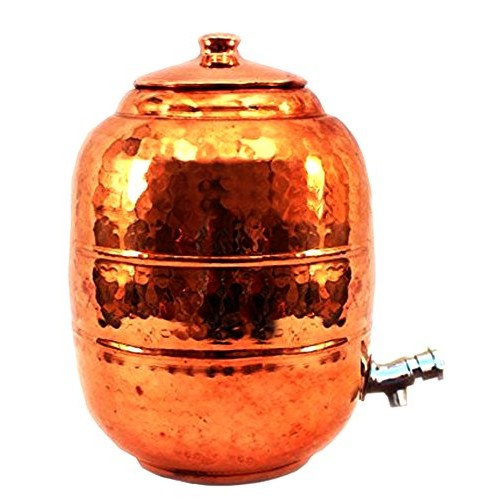 Hammered Copper Water Dispenser Containe...
