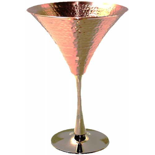 PARIJAT HANDICRAFT Copper Martini Glasse...