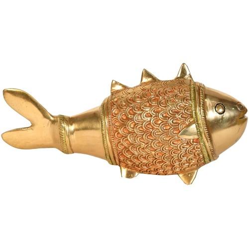 Brass Fish Vintage Statue; FengShui Vast...