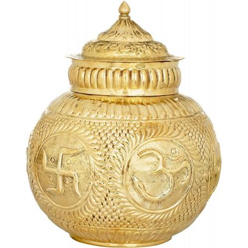 Auspicious South Indian Puja Kalash Bras...