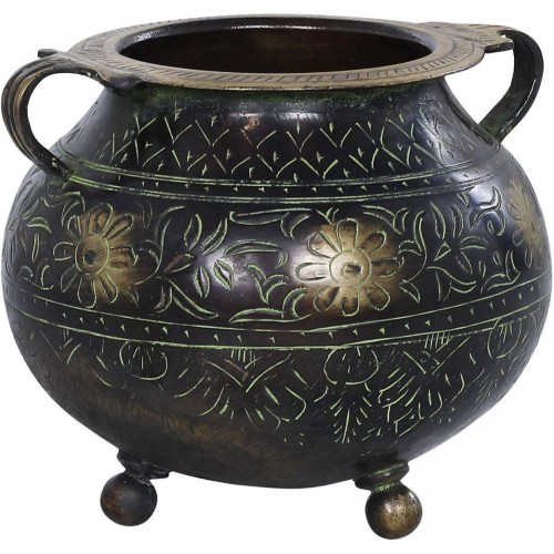 Decorative Pot - Brass Statue