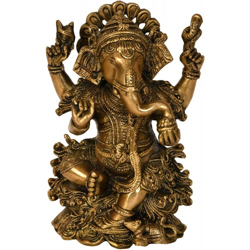 7.5 Inch Ganesh, Ganpati, Indian Hand Cr...