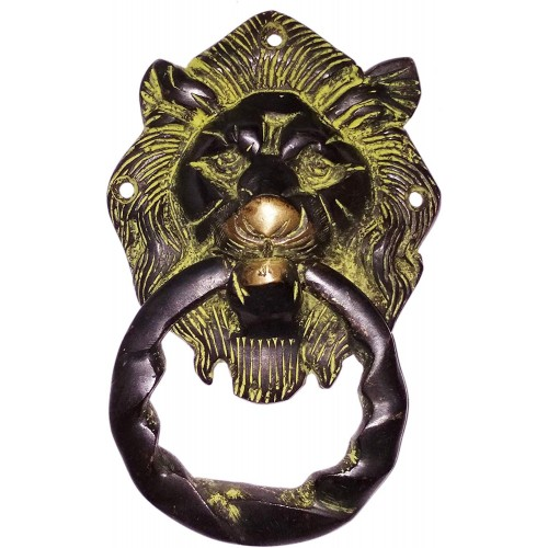 Brass Metal Door Knocker: Antique Design...