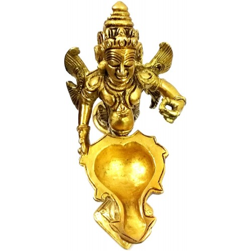 Brass Garuda Aarti: Rare Collection Vish...
