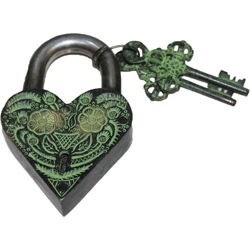 Beautifully Flower Engraved Brass Door H...
