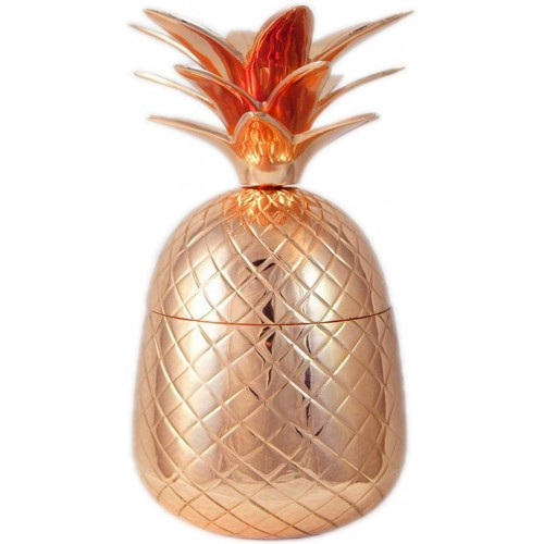 Solid Copper Pineapple Tumbler Mug with ...