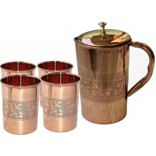 Indian Ayurveda Embossed Finished Copper...