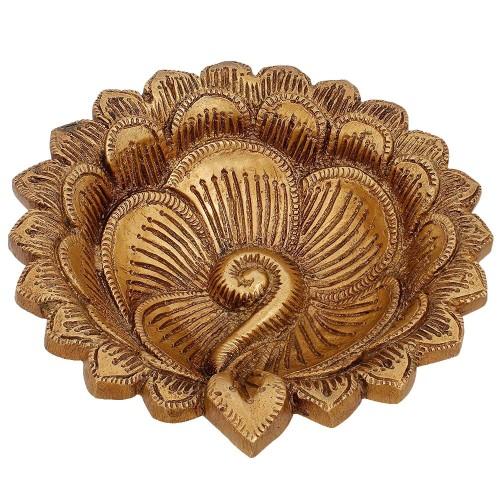 Handmade Brass Oil Lamps Diya Puja Items...