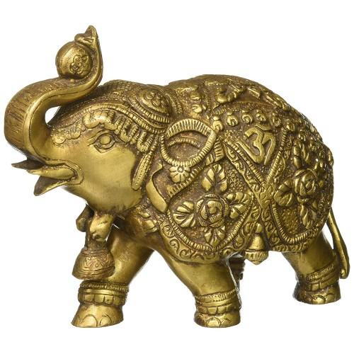 Saluting Elephant Ornament Indian Gifts ...