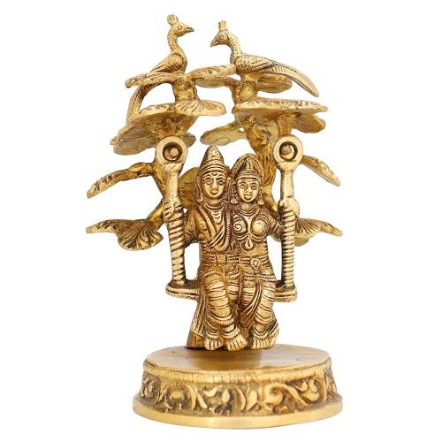 Indian Art Hindu Statue Radha and Krishn...