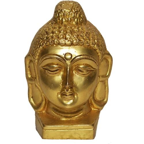 Buddha Figurine Brass Statue Showpiece Sculpture Home Decor Congratulatory Blessing Gift Item (1 KG)