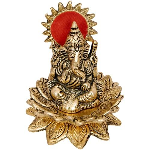 Lord Ganesh Sitting on Lotus Flower Show...