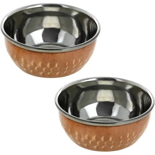 Copper Serving Bowl Dinnerware -Set of 2