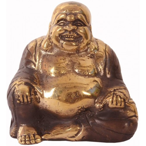 Vintage Laughing Buddha Statue In Solid ...