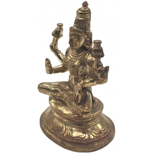5 Metal Sri Mahalaxmi 3.5 inches  Golden