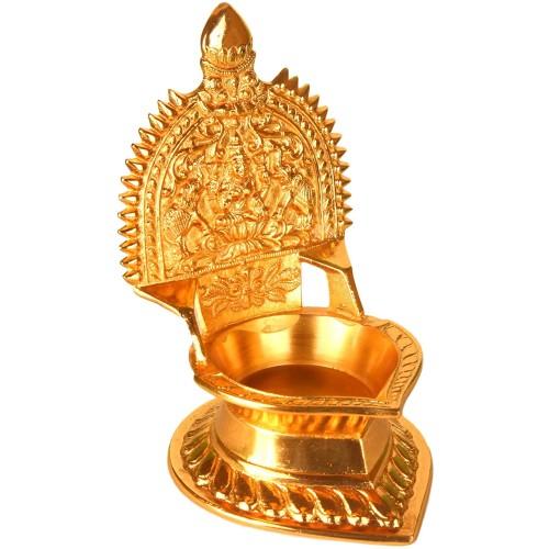 Brass Gajalakshmi Lamp Diya 8.5 x 10 x 3...
