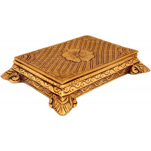 Brass Peetam Stand Rectangle Shape