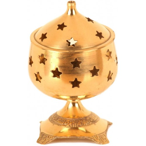 Brass Jyothi Lamp Vilakku with Lid Star ...