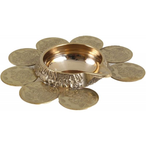 Brass Ashtalakshmi Coin lamp
