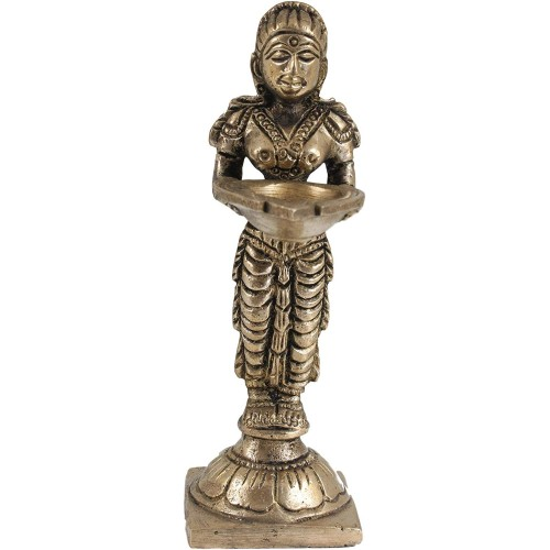 Brass Paavai Lamp Small