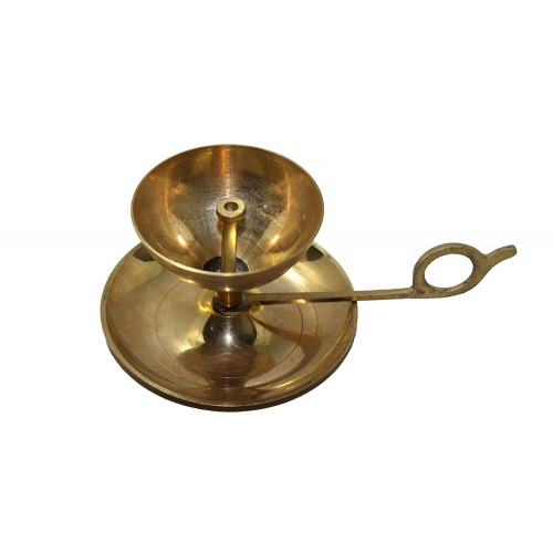 Handmade Brass Oil Lamp - Diya Lamp with...