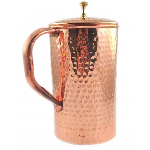 Pure Copper Pure Copper Hammered Water J...
