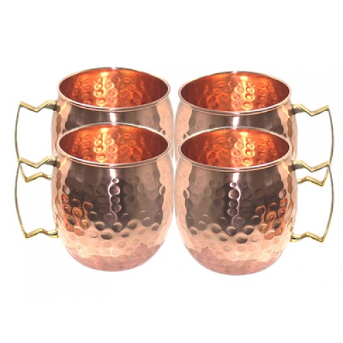 Copper Moscow Mule Beer Mugs Hand Hammer...