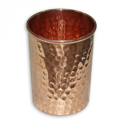 Handmade pure copper glass cup for water Copper Tumbler Mug 10 Ounce- Ayurveda Health Benefit
