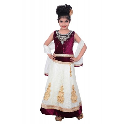 Kids dresses baby Clothing Designer embroidered Lehenga Choli 3 - 4 Years Velvet