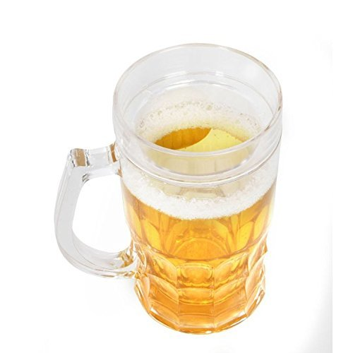 Beer Frosty Freezer Mugs Liquid Solid Glass Ice Mug For Beer Wine and All Other Soft And Hard Drinks