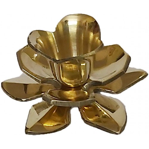 Lotus Shaped Brass Candlestick Holder 4 ...