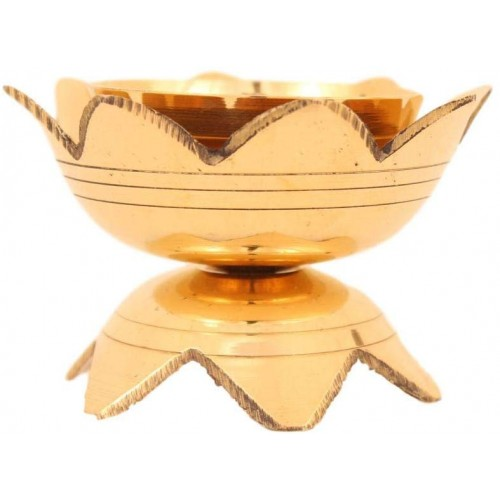 Lotus Shaped Brass Lamp Diya Pooja Vikal...