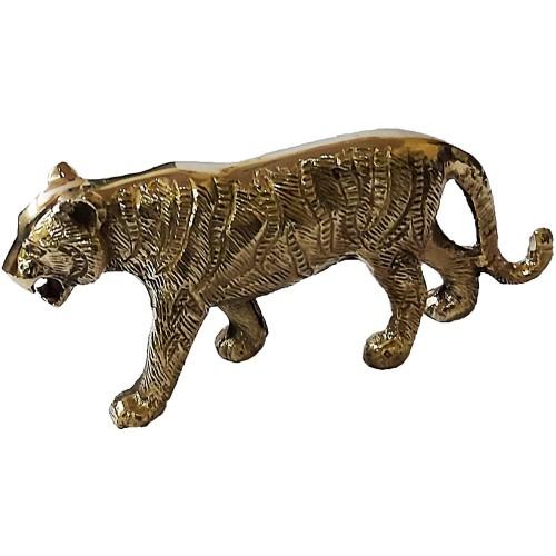 Brass Lucky Tiger Statues Desktop Figuri...