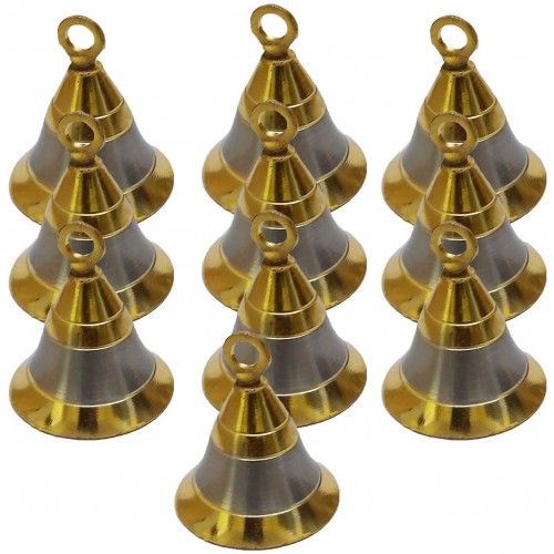 """Lot 50 Elephant Camel Cow Brass Bells 2"""" Height 1.5"""" Dia Indian Vintage Style Decor Assorted 2"""" Brass Bells"""