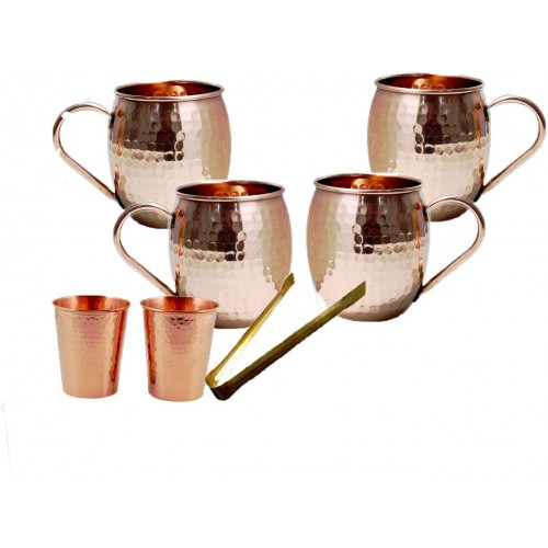 Moscow Mule 100 % Solid Pure Copper Mug ...