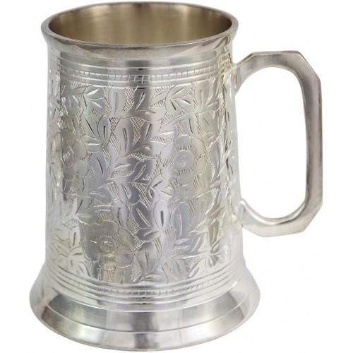Antique Beer Stein 20 oz Silver