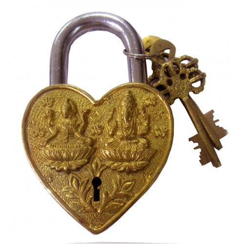 Heart-Shape Padlock Fully Functional wit...