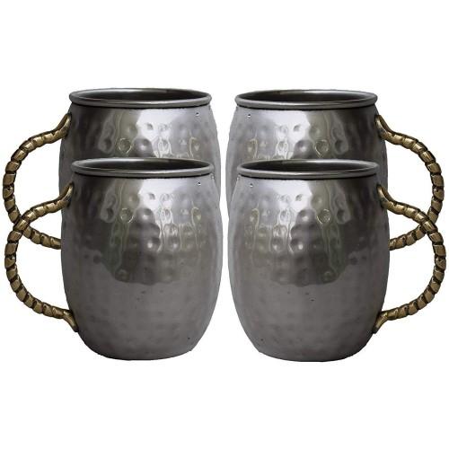 Set of 4 Stainless Steel Moscow Mule Mug...