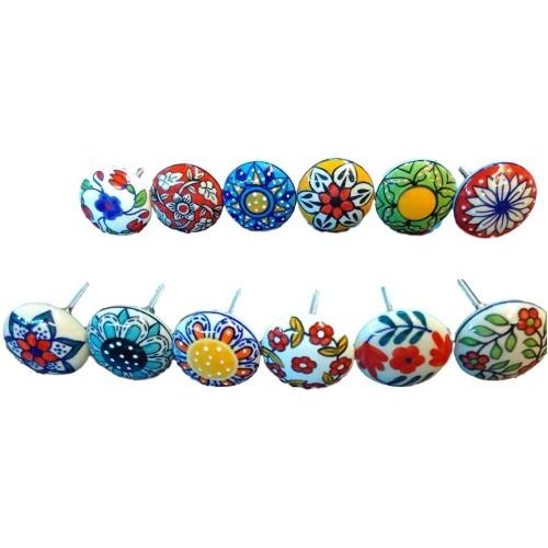 Mix Vintage Look Flower Ceramic knobs Do...