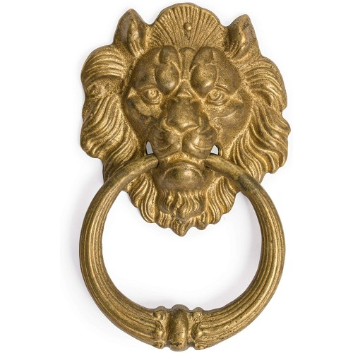 Brass Frowning Lion Door Hardware Pull 7...