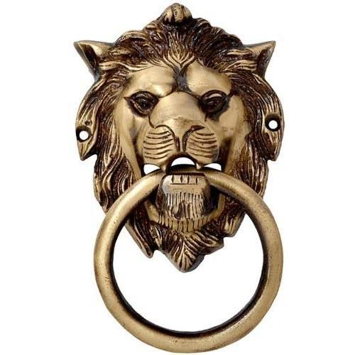 Door Knocker Brass Lion Mouth Door Knock...