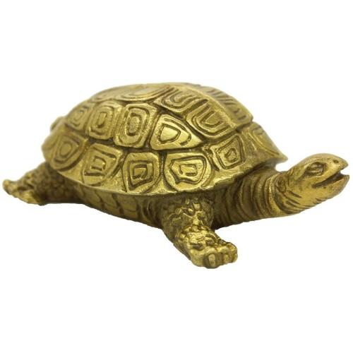 Chinese Handmade Brass Turtle Figure Hom...