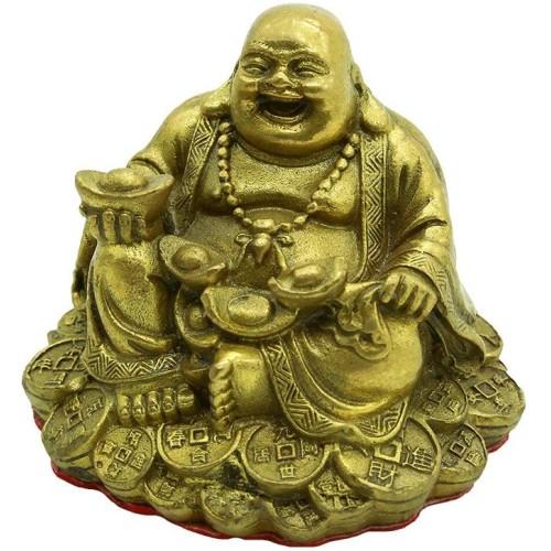 Fengshui Handmade Sitting Brass Laughing...