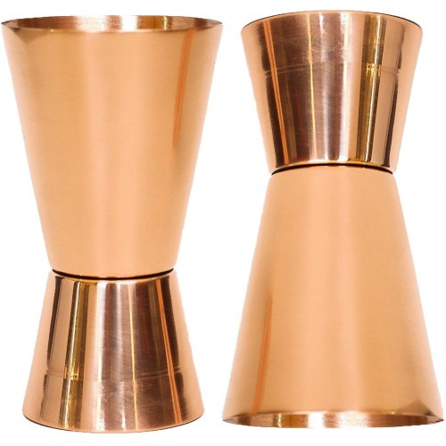 Set of 2 Pure Copper Measuring Jigger Sh...