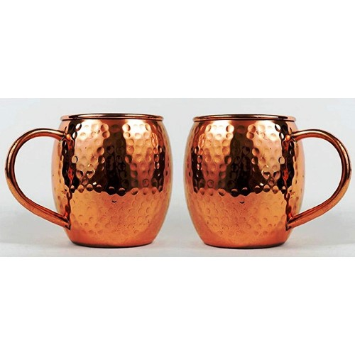 Hammered Copper Barrel Mug for Moscow Mu...
