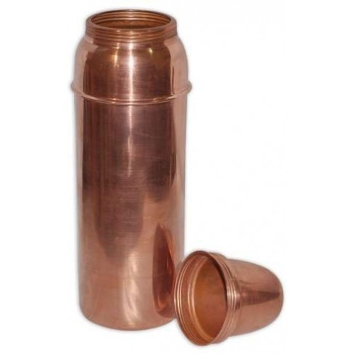 Copper Water Bottle with Lid for Ayurved...