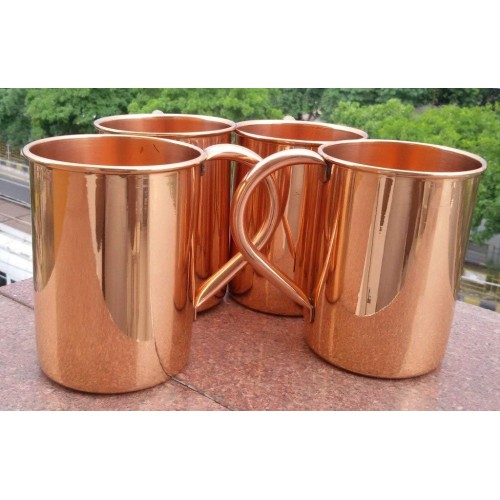 24oz-straight Solid Copper Plain Moscow ...