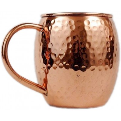 Copper Barrel Hammered Mug for Moscow Mules - 16 Oz Copper